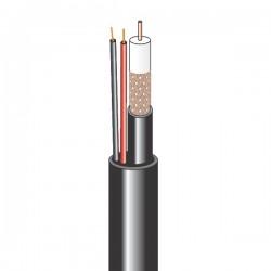 Комбинированный кабель для видеонаблюдения внешний 12В (бухта 200м)