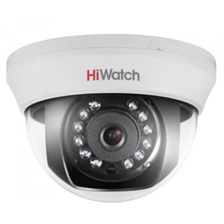 1Мп внутренняя купольная HD-TVI камера с ИК-подсветкой до 20м