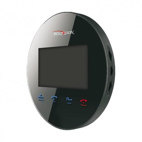 Миниатюрный круглый цветной видеодомофон