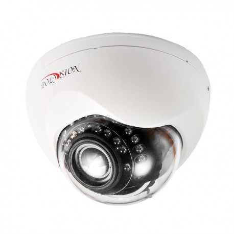 Купольная 720p IP-видеокамера с вариообъективом 2.8-12 мм, в пластиковом корпусе