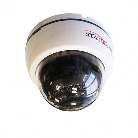 Купольная IP-видеокамера для помещений с вариофокальным объективом и аудиовходом и PoE
